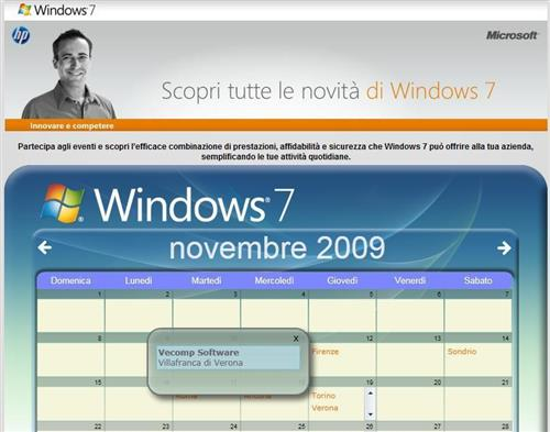Eventi di lancio Windows 7